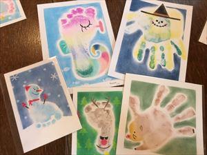 パステル手形アート教室